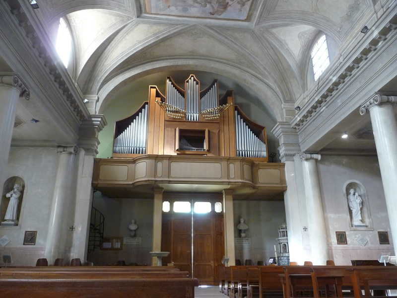 Church of S. Felice e Fortunato, Noale (Venice), Italy Two-manual mechanical action organ, 1970