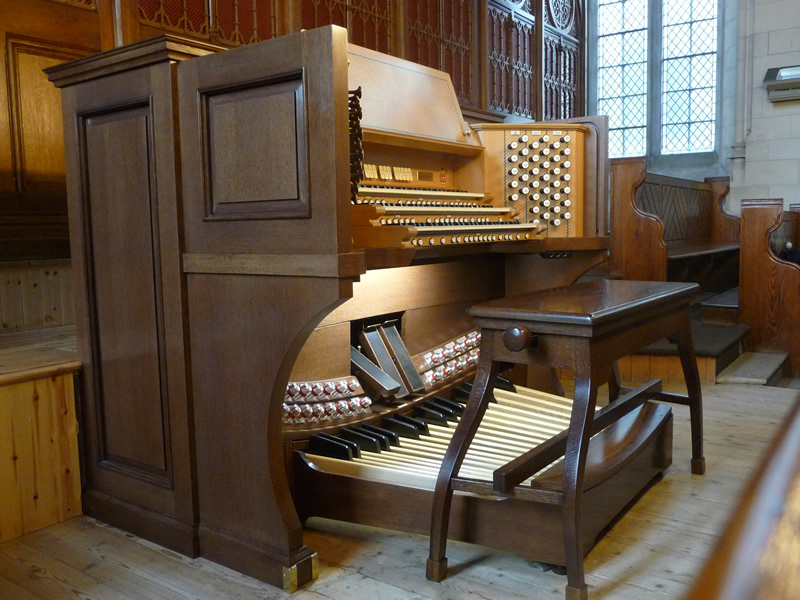 The new three-manual mechanical action organ with detached console at St. Patrick's College, Maynooth, Ireland's National Seminary and Pontifical University.