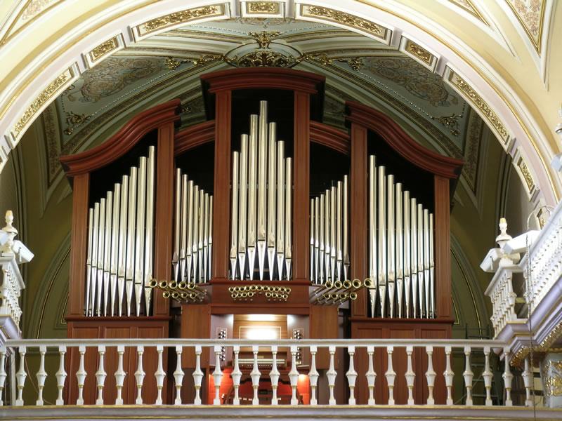 Cattedrale di Aguascalientes, Messico, Organo meccanico a due tastiere, 2005