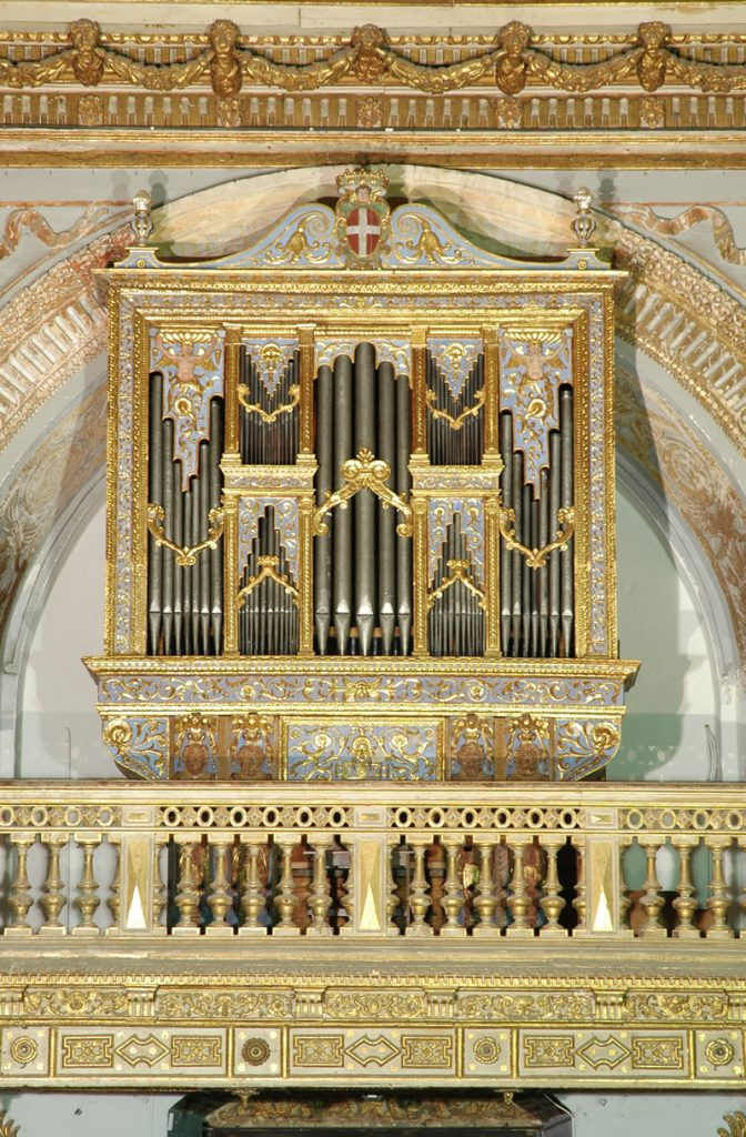 Lo strumento attribuito a Raffaele La Valle, 1579, nell'Oratorio della Co-Cattedrale di San Giovanni, Valletta, Malta