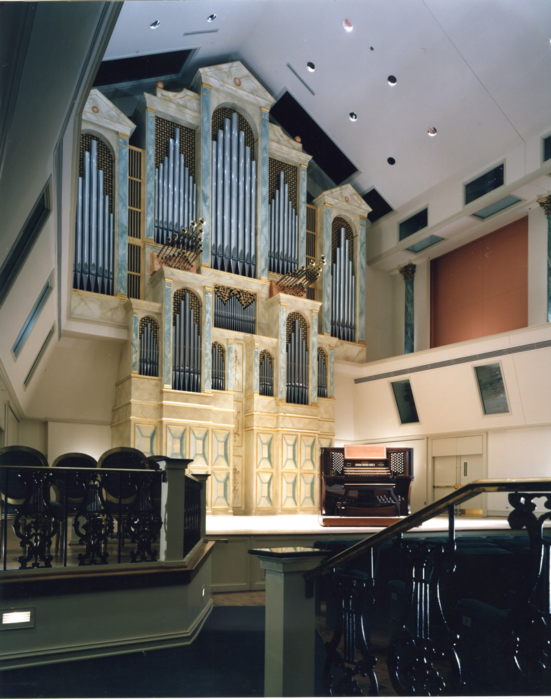 Spivey Hall, Clayton State College, Morrow, Georgia, Organo a tre tastiere, 1992