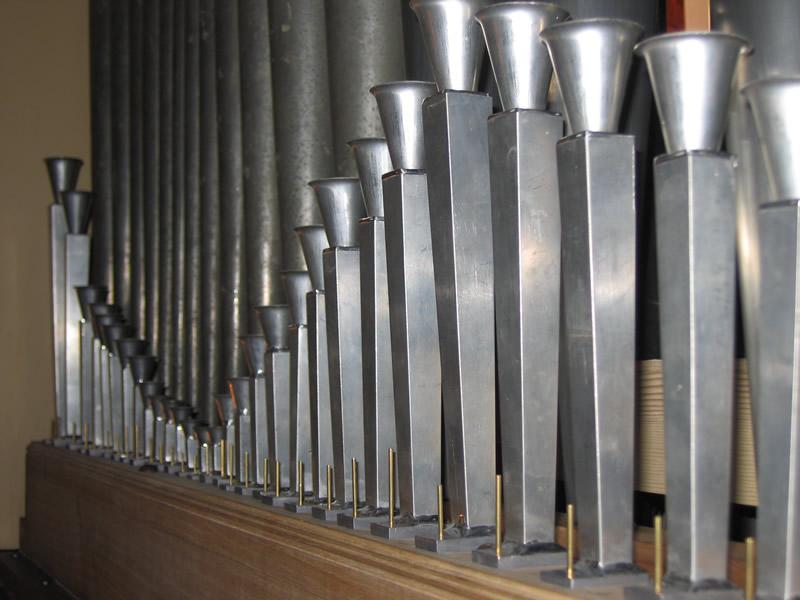 La ricostruzione operata dai Fratelli Ruffatti di un tipico registro di Tromboncini di Gaetano Callido, il famoso organaro veneziano operante nella seconda metà del XVIII secolo.