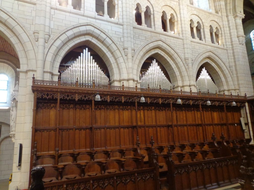 A view of the North side facades over the Quire stalls